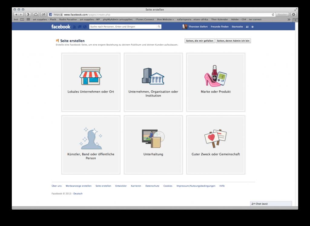 Facebook Fanpage erstellen: Legen Sie die Art / das Thema Ihrer Facebook Fanpage fest