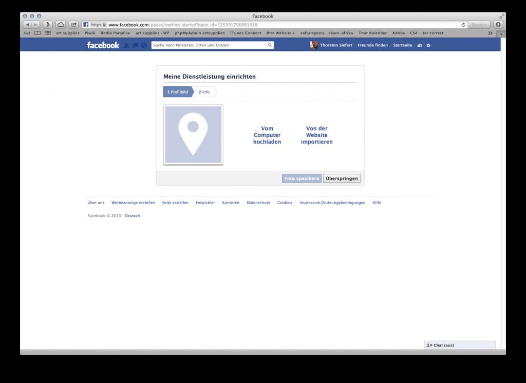 Facebook Fanpage erstellen: Aussagekräftige Bilder oder Logo hochladen
