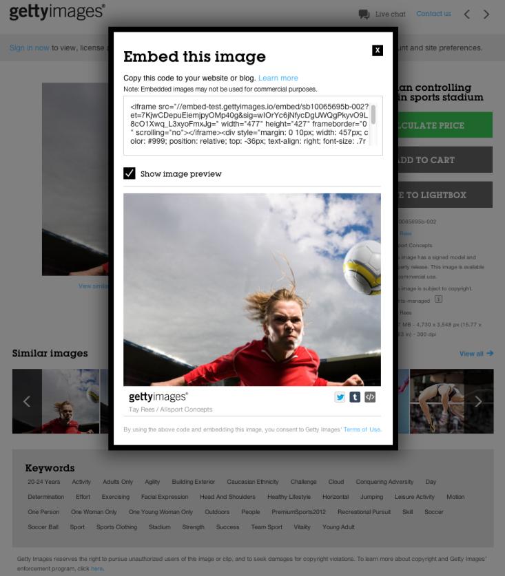 kostenfreie Bilder: Embed Getty Image