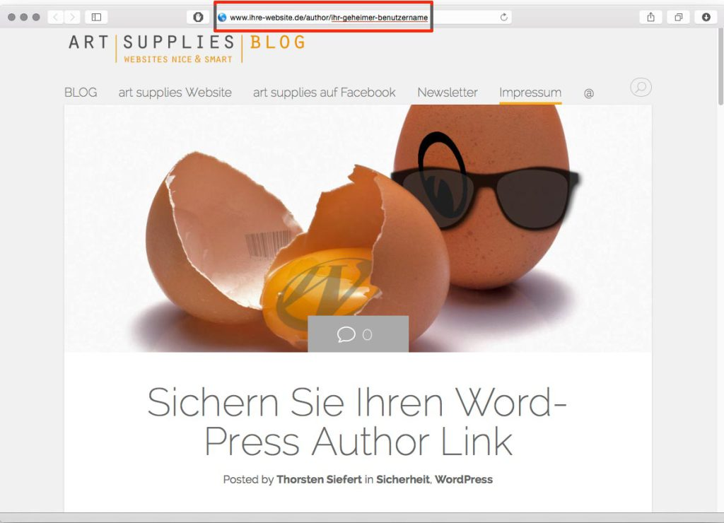 worpress author link
