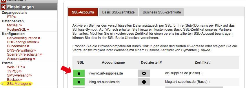 Hetzner: kostenloses SS-Zertifikat einstellen - WordPress auf HTTPS umstellen